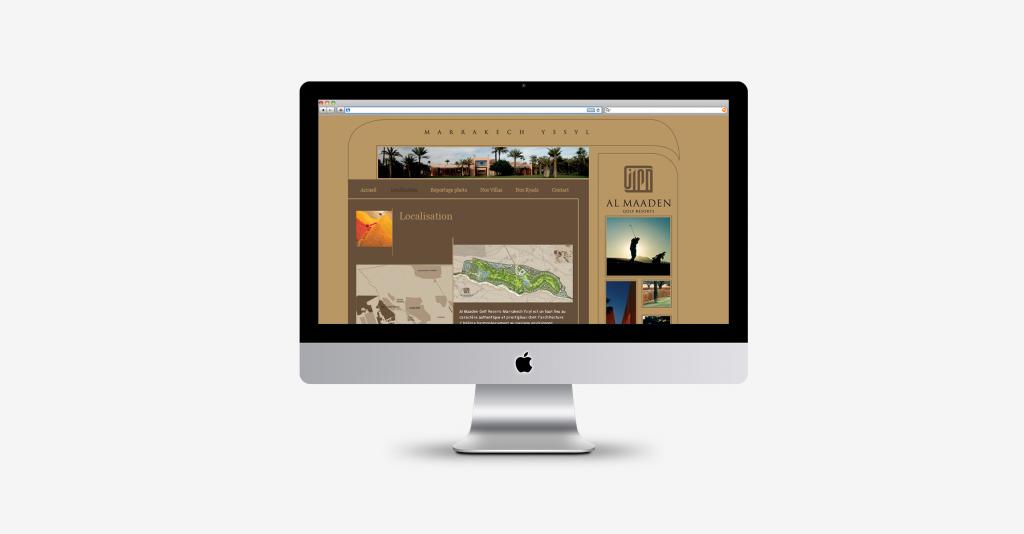 Al MAaden Resort / Conception graphique Webdesign
