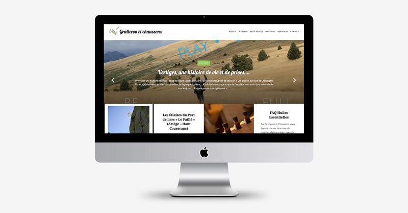 Gratteron et chaussons / Webdesign et développement